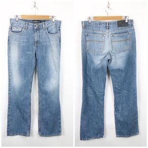 Express  Light Acid Wash Low Rise Bootcut Jeans